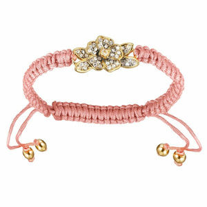 Juicy Couture Jewelry - JUICY COUTURE Pave Flower Pink Friendship Bracelet